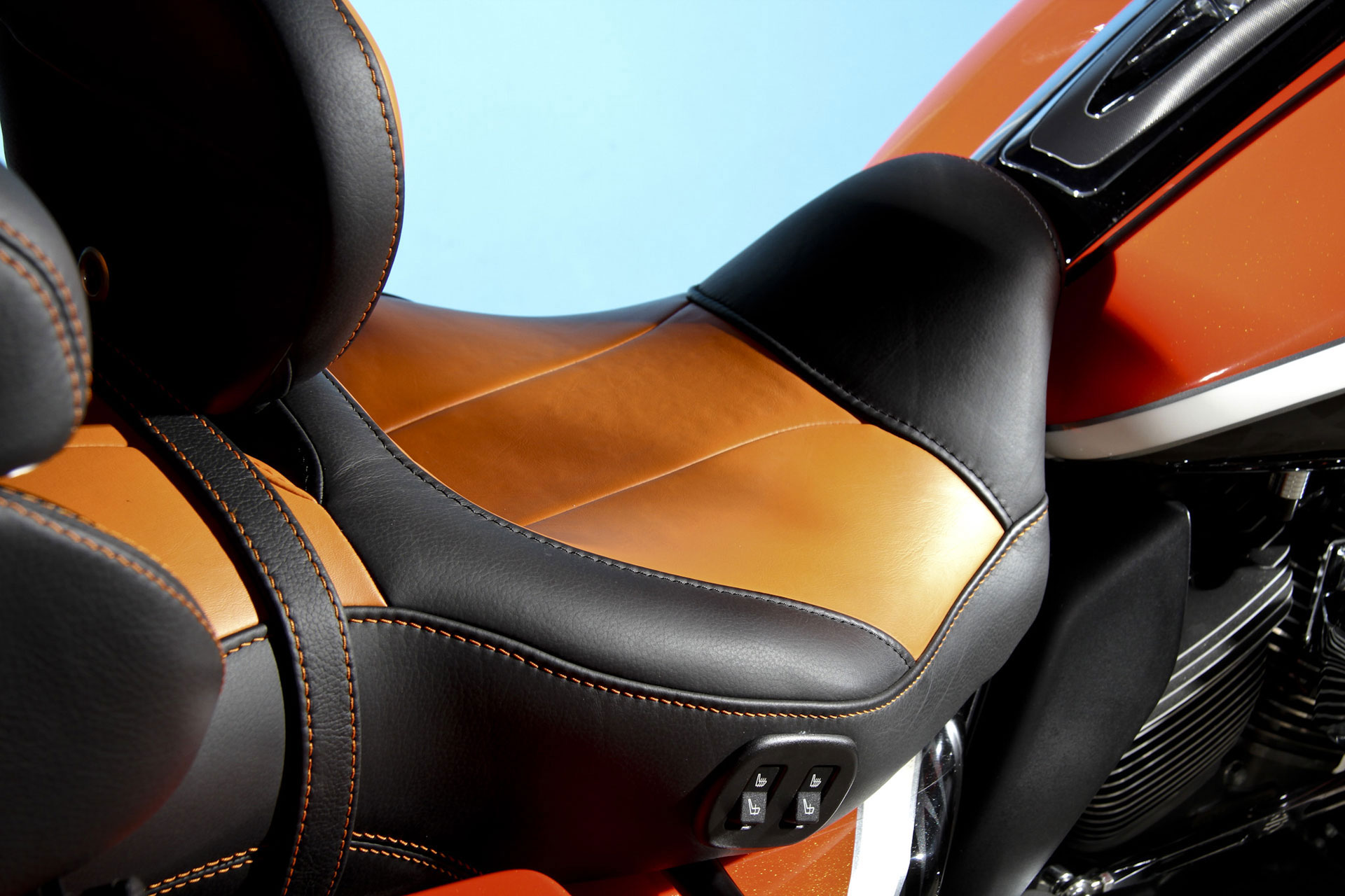 Orange Motorcycle seat